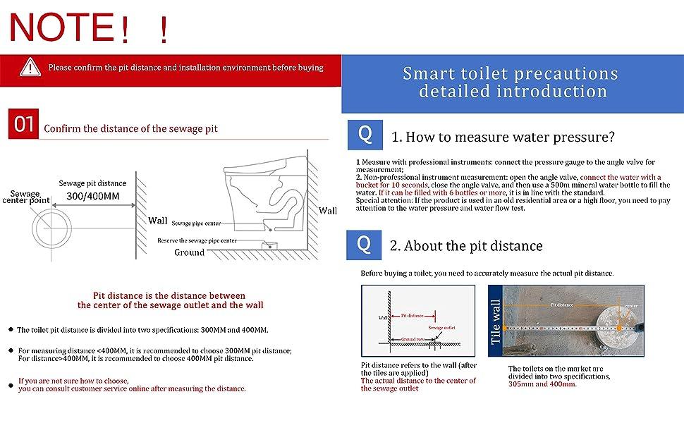 smart toilet install