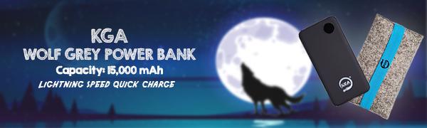 KGA wolf grey power bank