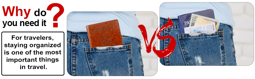 passport holder with vaccine card slot