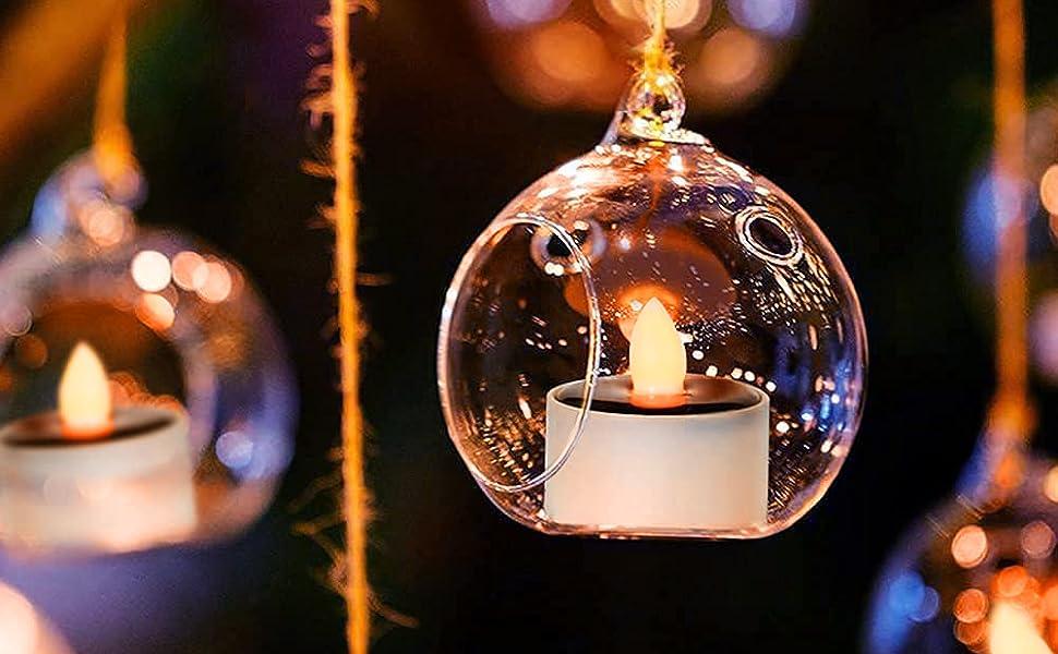 warm white solar tea light candles
