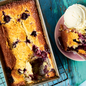 One-Bowl Blueberry Buckle