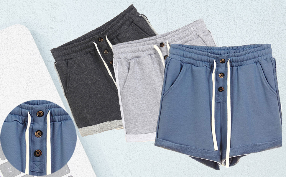 high waisted lounge shorts