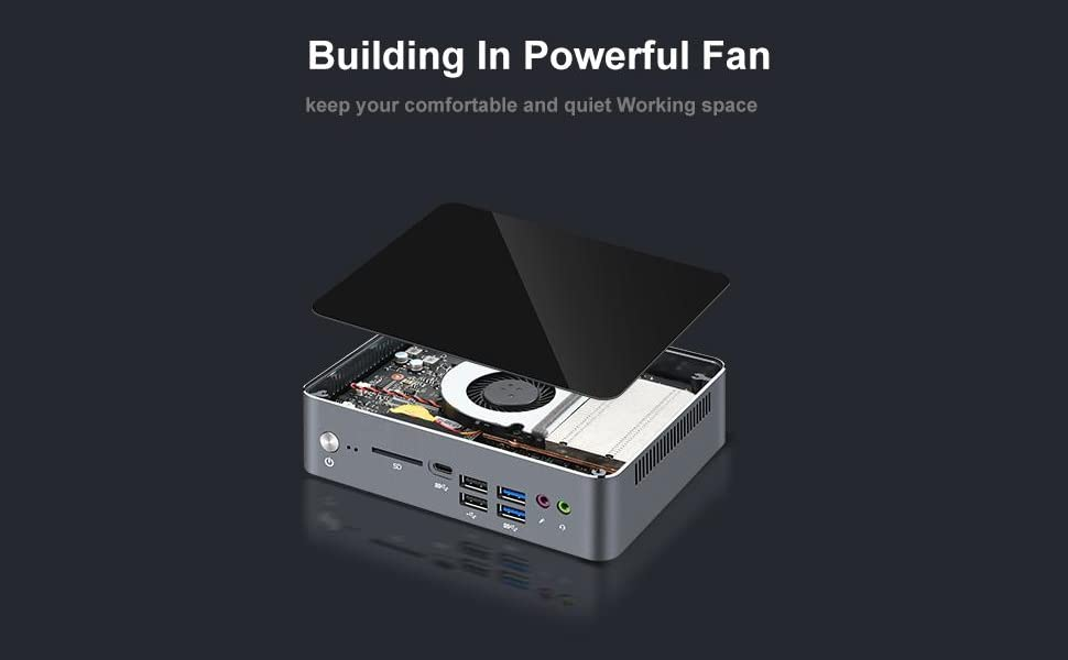 Building in powerful fan, make your working space more confortable and quiet.