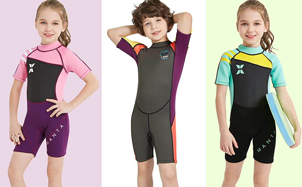 kids wetsuit shorty