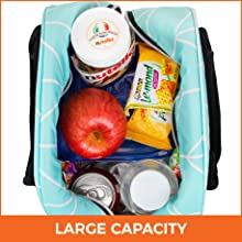 fits up to 12 cans of soda beverages meals snacks