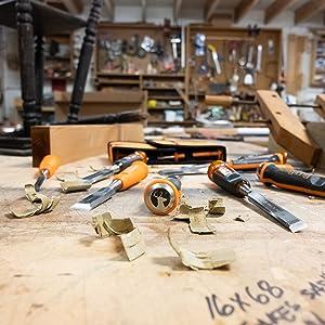 3 pc wood chisel set; wood chisels for carpentry; wood chiseling set; wood chisel professional
