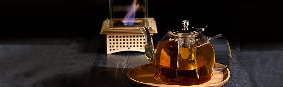 Enjoy time watching your tea brew through the glass and take joy in sipping your fragrant beverage