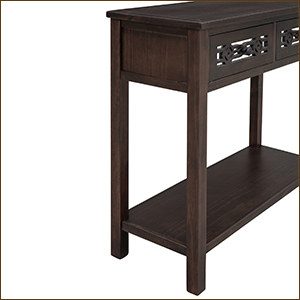 console table with bottom shlef
