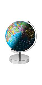 Illuminated Spinning World Globe