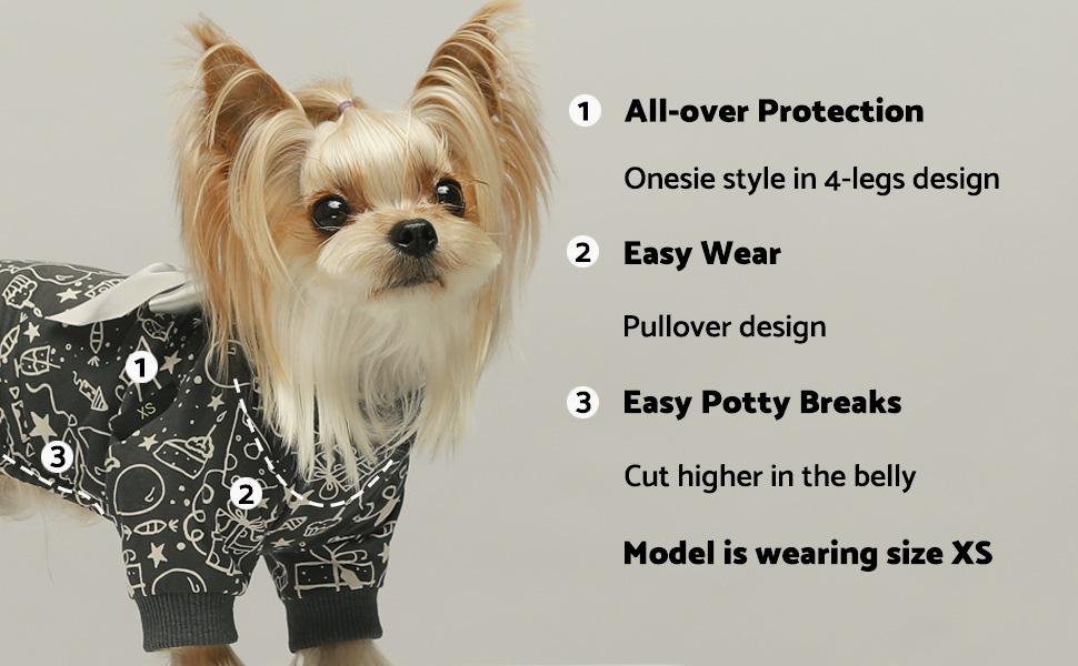 dog dress pajamas bowknot