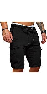 Men's Solid Color Cargo Shorts