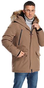 Molemsx Men's Warm Winter Duck Down Jacket Parka Puffer Coat