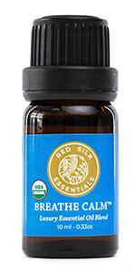 organic breathe calm essential oil blend