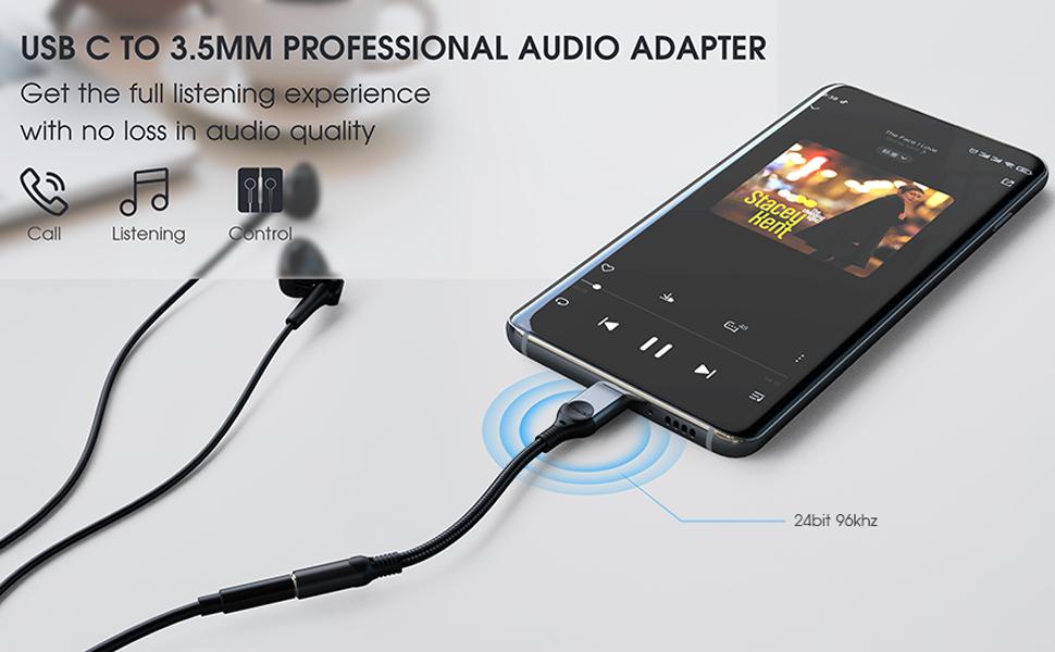type c to 3.5mm audio adapter