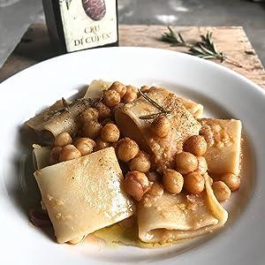 Faella Paccheri Chickpeas Dish