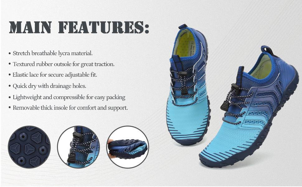 Men and Women Water Shoes Main Features