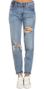 jeans for women Womenamp;#39;s High Rise Destroyed Boyfriend Jeans Washed Distressed Ripped Denim Pants