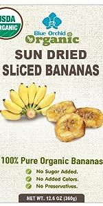 Organic Sliced BananasBlue Orchid