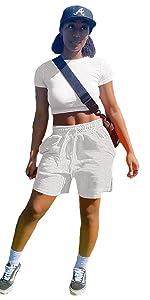 Shorts Sets Women 2 Piece Outfits Summer