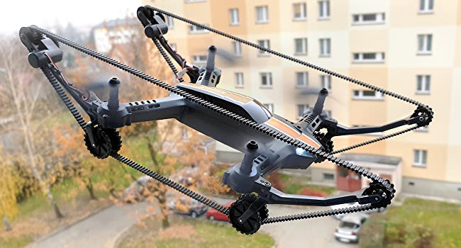 X-TANKCOPTER Hybrid Quadcopter Tank Drone HD Camera Smartphone App VR Goggles FPV 2.4GHz