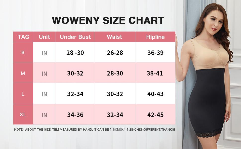 High Waist Half Slips for Women Under Dresses Shapewear Tummy Control Slip Dress