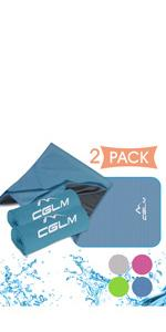 Cooling Towel Microfiber Towel for Instant Cooling Relief, Yoga Golf Travel Gym Sport Camping