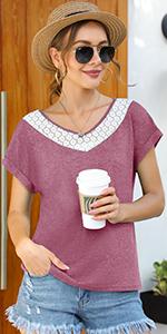 T-Shirt v-ausschnitt sommer
