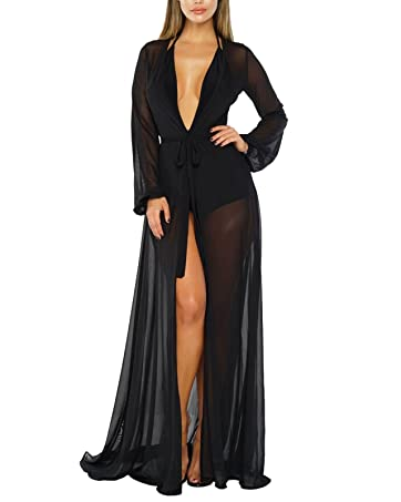 drag floor maxi open front cover up dress for swimsuit