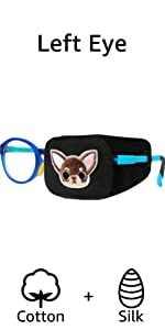 eye patches for kids boys dog glasses silk