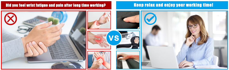 Keyboard Wrist Rest Mouse Pad with wrist support
