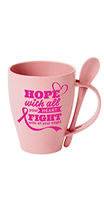 Wheat Fiber Mug, breast cancer awareness