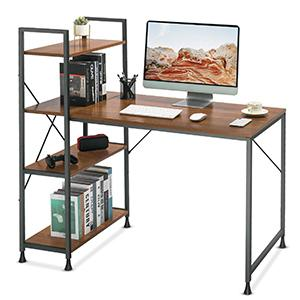 47 Inches Computer Desk with 4 Tiers Adjustable Storage Shelves
