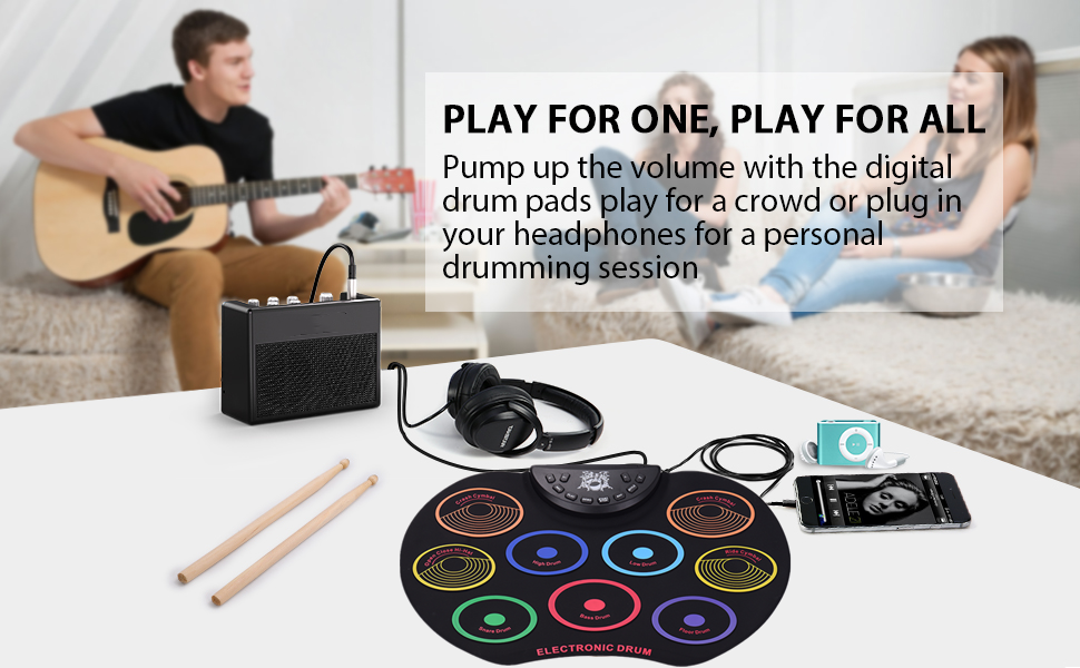 Muslady Electronic Drum Kit