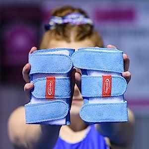 Gymnastics wrist supports for girls