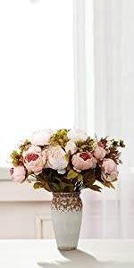 artificial peony fake peony champagne peony artificial flowers