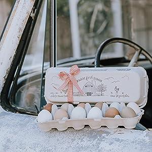 barn rustic vintage design egg cartons