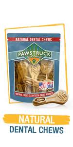 Natural Dental Chews for Dogs amp;amp;amp;amp; Puppies - Dental Treats Made in USA by American Company