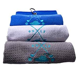 Embroidered Waffle Microfiber Fabric women men funny gift set
