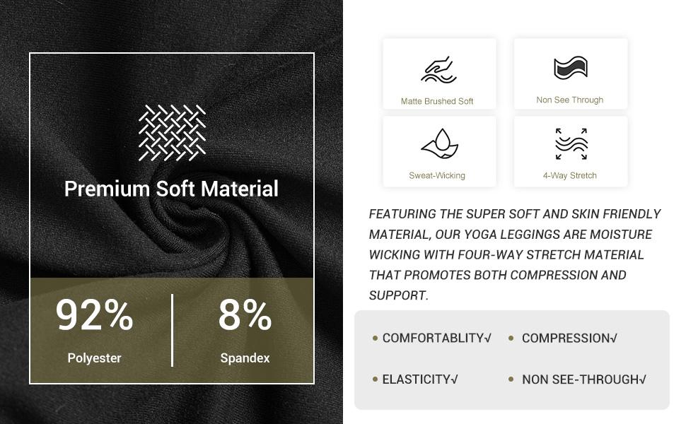 Fabric for Syrinx 3 Pack High Waisted Leggings