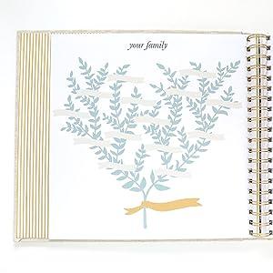 baby memory book baby books family tree