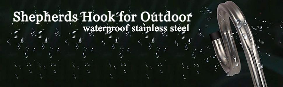 stainless steel Shepherds Hook