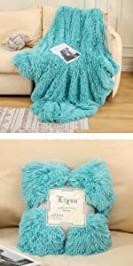 super soft faux fur blanket flannel fleece warm blanket for bed sofa couch