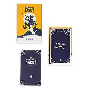 tarot cards and tarot journal workbook