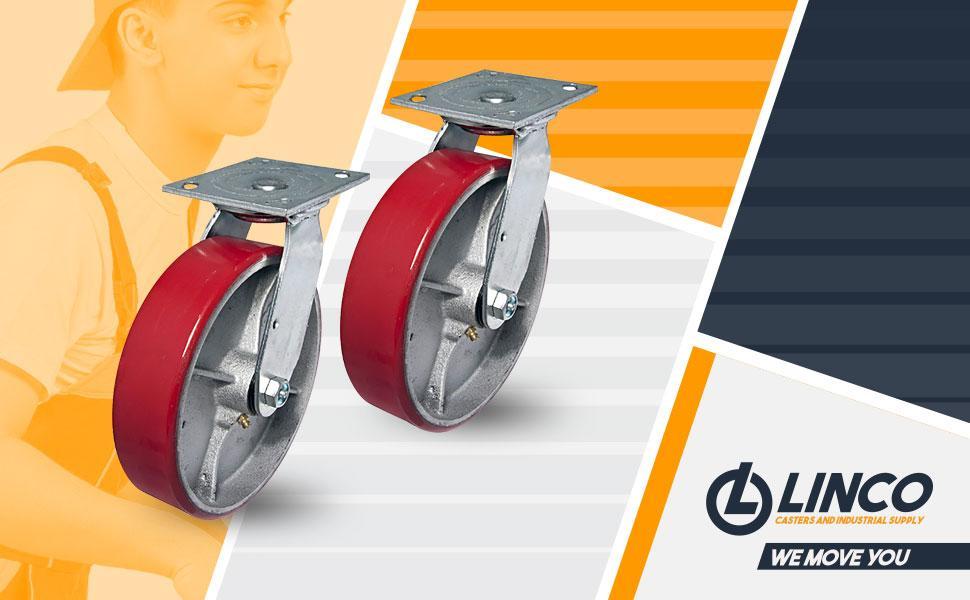 8 inch Heavy Duty Polyurethane Caster Wheel