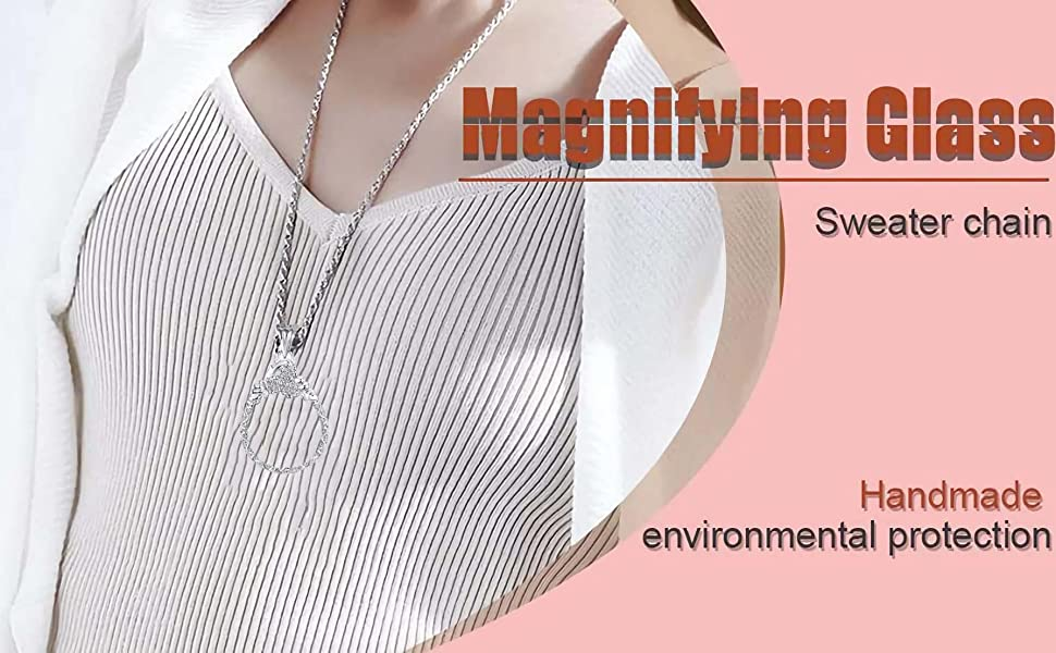 Bueuwe Magnifying Glass NecklaceMagnifying
