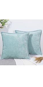 light teal throw pillow covers