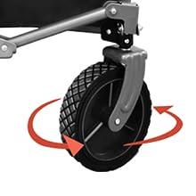 360° rotating front wheels
