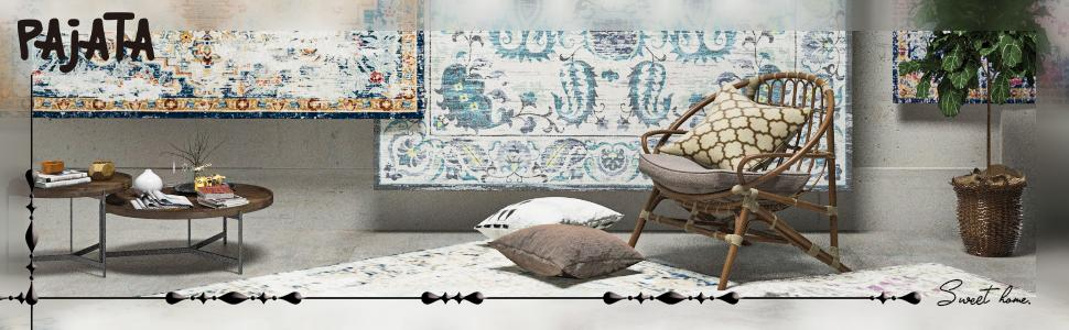 Pajata Floral Area Rugs