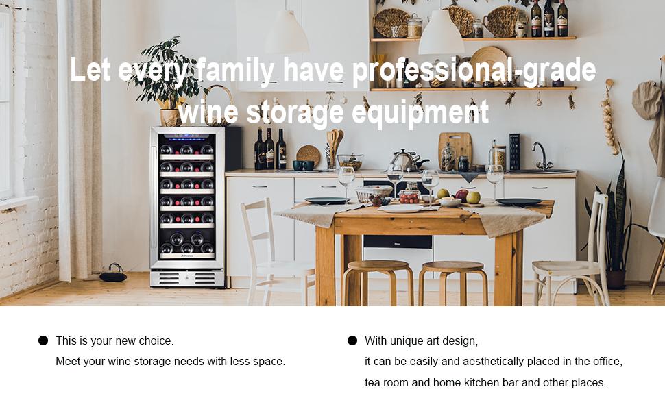 15amp;#34; wine refrigerator