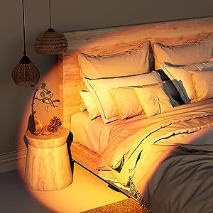 sunset light for bedroom decor